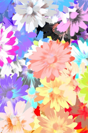 3D Colors Painting Blossom Art IPhone Wallpaper Mobile Wallpaper