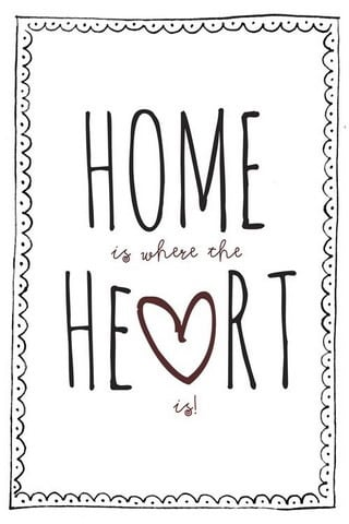 Home & Heart IPhone Wallpaper Mobile Wallpaper