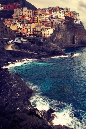 Sea Mountain Manarola IPhone Wallpaper Mobile Wallpaper