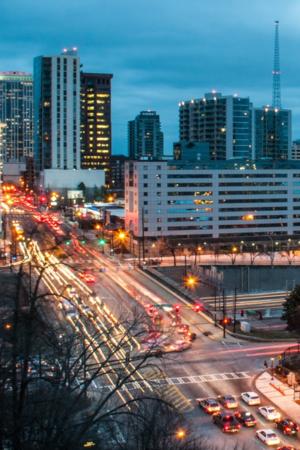 Downtown Atlanta Night Light IPhone Wallpaper Mobile Wallpaper