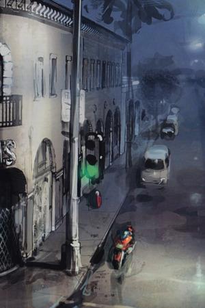 3D Painting Street Road IPhone Wallpaper Mobile Wallpaper