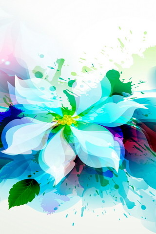 Abstract Flower Colors IPhone Wallpaper Mobile Wallpaper
