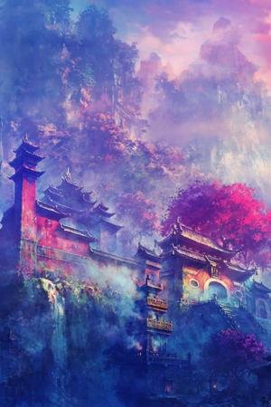 Asain Village Castle In Mountain IPhone Wallpaper Mobile Wallpaper