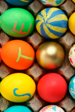 Abstract Colorful Eggs IPhone Wallpaper Mobile Wallpaper