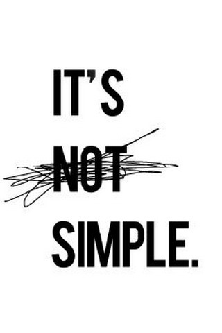 IT's Not Simple IPhone Wallpaper Mobile Wallpaper