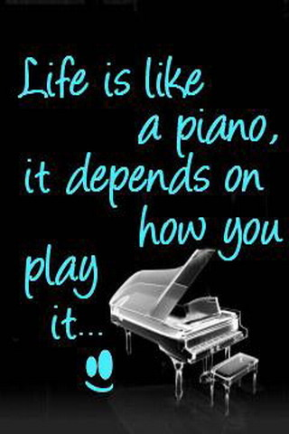 Life Is Like Piano IPhone Wallpaper Mobile Wallpaper