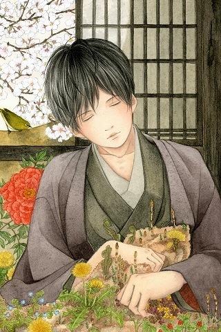 Sad Chines Kimono Boy IPhone Wallpaper Mobile Wallpaper