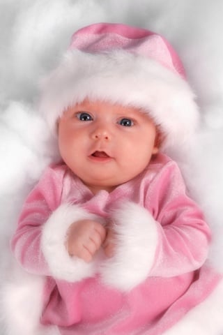 Cute Baby In Pink IPhone Wallpaper Mobile Wallpaper