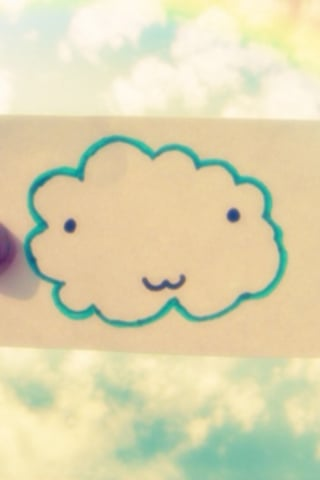 Smiley Cute Cloud IPhone Wallpaper Mobile Wallpaper