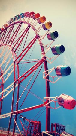 City Ferris Wheel IPhone Wallpaper Mobile Wallpaper