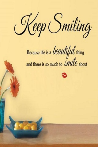 Keep Smiling IPhone Wallpaper Mobile Wallpaper