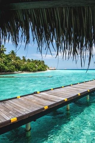 Maldives Dock IPhone Wallpaper Mobile Wallpaper