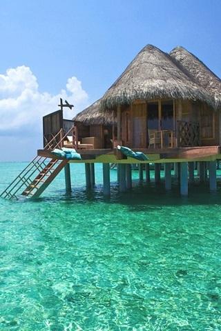 Resort Maldives IPhone Wallpaper Mobile Wallpaper