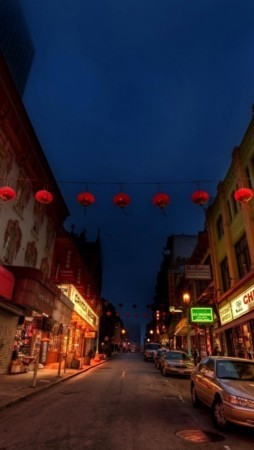 Night Chinatown Night IPhone Wallpaper Mobile Wallpaper