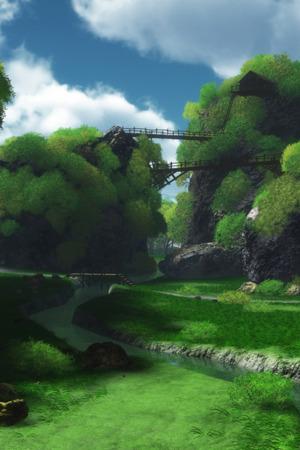 Green Lake Scenery IPhone Wallpaper Mobile Wallpaper