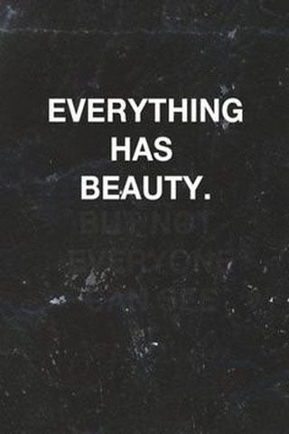 Everything Has Beauty IPhone Wallpaper Mobile Wallpaper