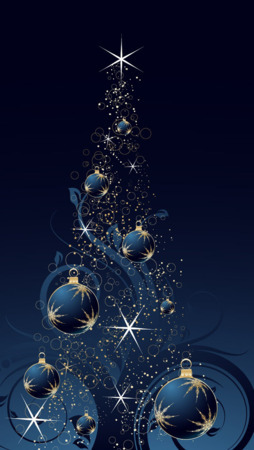 Happy Christmas Tree IPhone Wallpaper Mobile Wallpaper