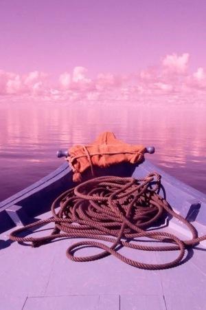 Boat Pink Nature IPhone Wallpaper Mobile Wallpaper