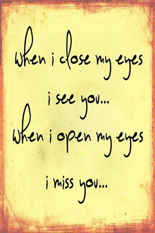 When I Close My Eyes IPhone Wallpaper Mobile Wallpaper