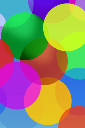 3D Colors Bubbles  Mobile Wallpaper