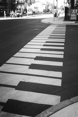 Piano Road  Mobile Wallpaper
