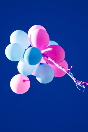 Colorful Balloons Blue Sky Mobile Wallpaper