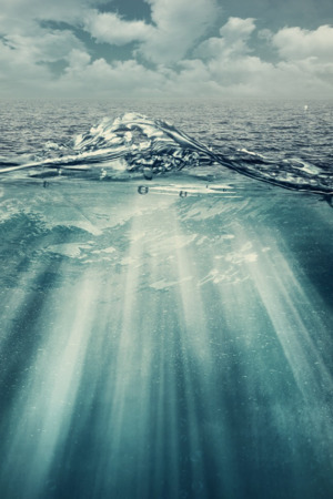 Wild Ocean Splash Mobile Wallpaper