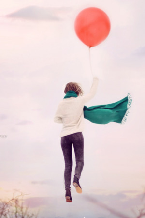 Red Balloon Up IPhone Wallpaper Mobile Wallpaper