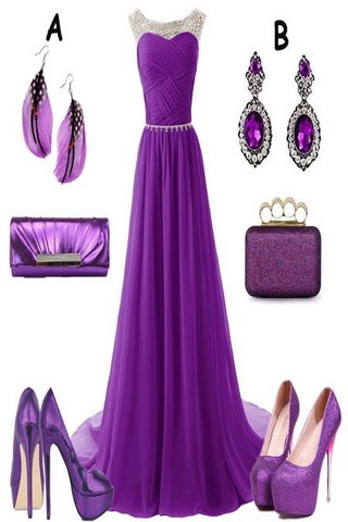 Purple Girls Dress Mobile Wallpaper