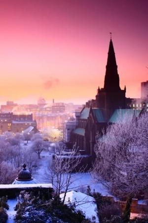 Snow City & Morning IPhone Wallpaper Mobile Wallpaper