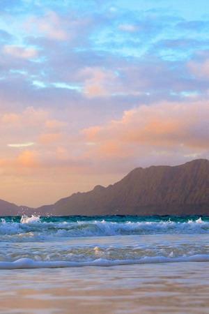 Seaside Waves Rock Landscape IPhone Wallpaper Mobile Wallpaper