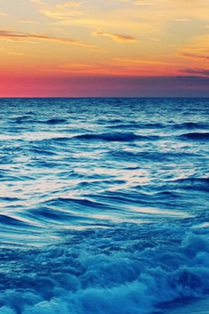 Beach Wave Sunset IPhone Wallpaper Mobile Wallpaper