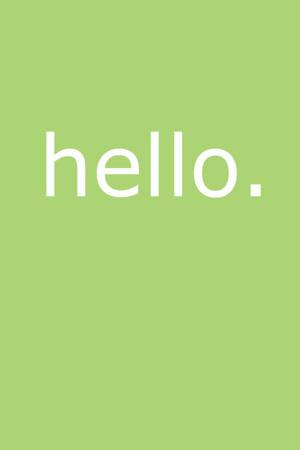 Simple Hello IPhone Wallpaper Mobile Wallpaper