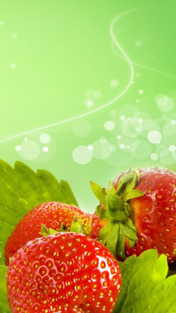 Download Fresh Strawberry & Bokeh IPhone Wallpaper Mobile ...