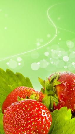 Fresh Strawberry & Bokeh IPhone Wallpaper Mobile Wallpaper