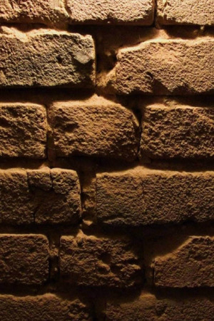 Old Brick Wall Texture Brown Mobile Wallpaper