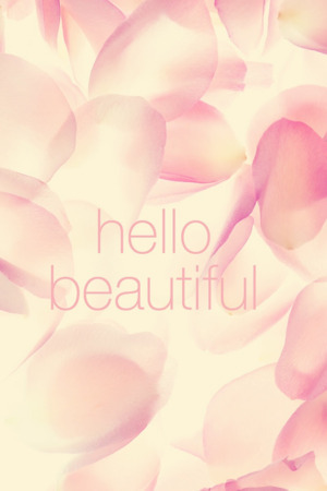 Pink Hello Beautiful IPhone Wallpaper Mobile Wallpaper