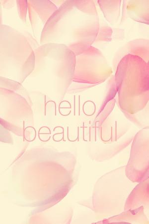 Pink Hello Beautiful IPhone Wallpaper Mobile Wallpaper