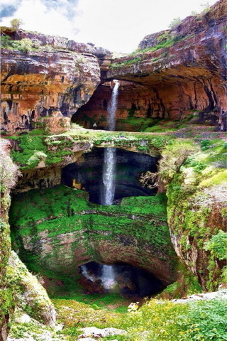 Waterfalls Three Bridge Chasm IPhone Wallpaper Mobile Wallpaper