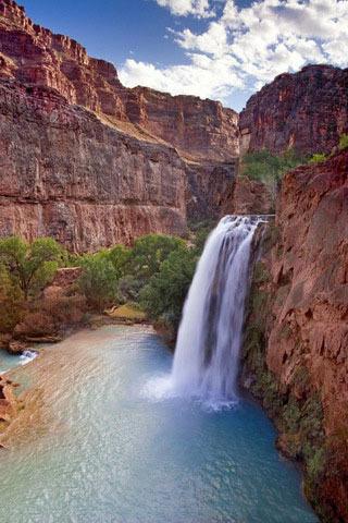 Waterfalls Nature & Mountain IPhone Wallpaper Mobile Wallpaper