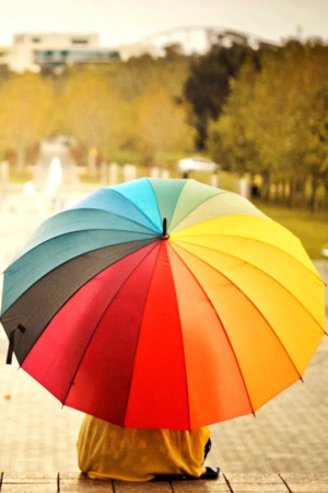 Colorful Umbrella IPhone Wallpaper Mobile Wallpaper