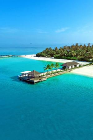 Maldives Resort Blue Sea Island IPhone Wallpaper Mobile Wallpaper