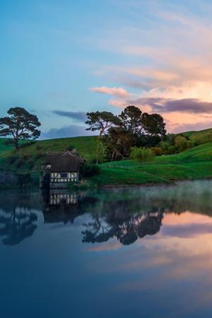 Hill Lake Sunset IPhone Wallpaper Mobile Wallpaper