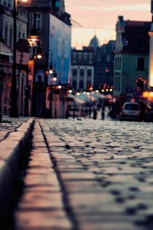 Evening City Street IPhone Wallpaper Mobile Wallpaper