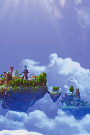 3D Sky Island Castle IPhone Wallpaper Mobile Wallpaper