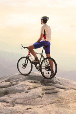 Riding Bike On Mountain Sports IPhone Wallpaper Mobile Wallpaper