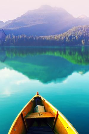 Parking Boat On Peaceful Lake IPhone Wallpaper Mobile Wallpaper