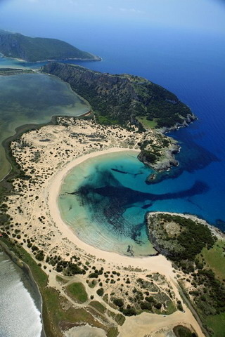 Half Moon Bay Messinia Greece IPhone Wallpaper Mobile Wallpaper