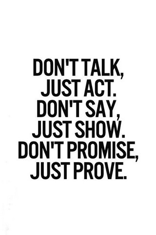 Dont Talk Just Act IPhone Wallpaper Mobile Wallpaper