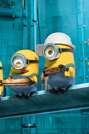 Despicable Me Eating Burger IPhone Wallpaper Mobile Wallpaper